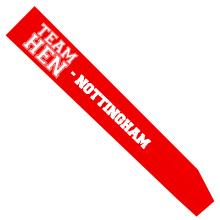 Customisable team hen sash.