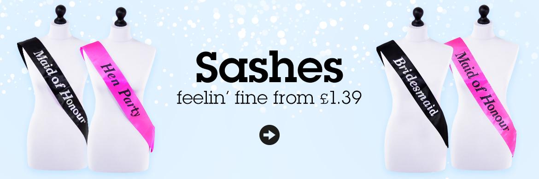 Feeling Fine Sash £1.39