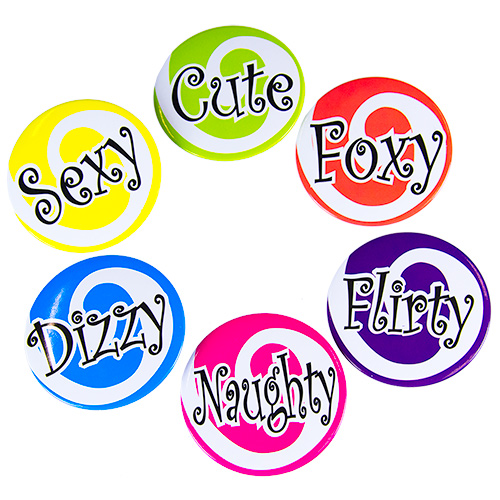 Saucy Girls Night Out Badges On White Background