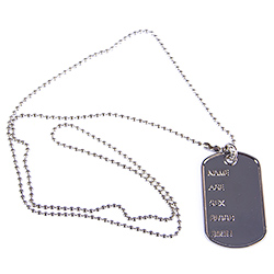 Dog Tags For Rambo Costume On White Background
