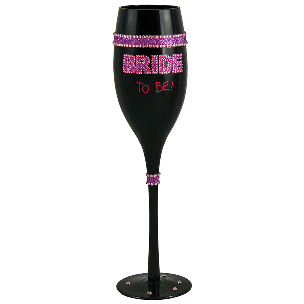 Bride To Be Champagne Flute On White Background