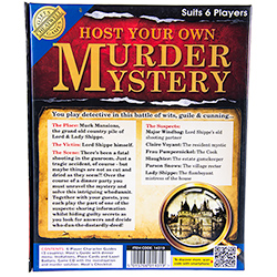Host Your Own Murder Mystery Evening Back Packaging