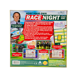 Host Your Own Race Night Back Packaging