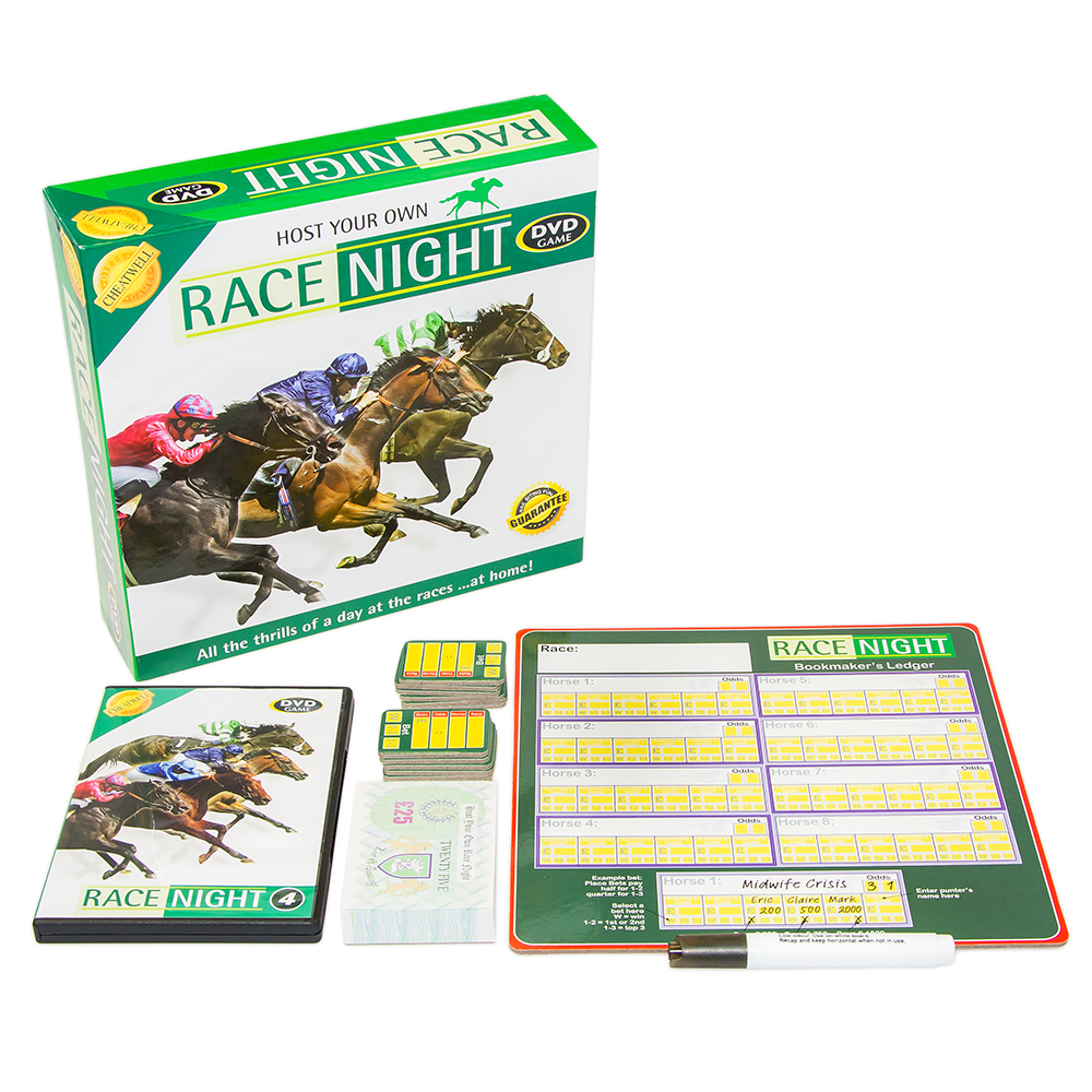 Host Your Own Race Night Front Packaging