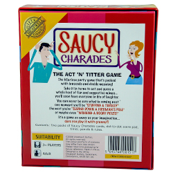 Back Of Packaging Hilarious Saucy Charades Party Game