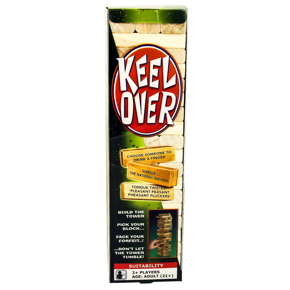 Keel Over Jenga Packaging