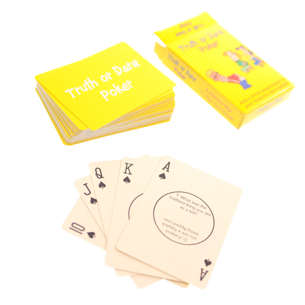 Truth or Dare Poker Out Of Packet On White Background
