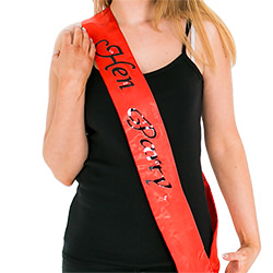 A model wearing the sash