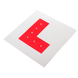 Flashing Red L Plate With White Background