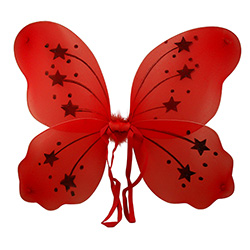 Red Fairy Wings With Stars