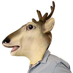 Side Of Full Head Stag Mask