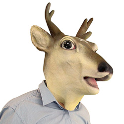 Side Angle Full Head Stag Mask