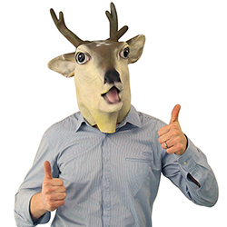 Full Head Stag Mask With Thumb's Up