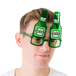 Beer bottle glasses make a great accessory