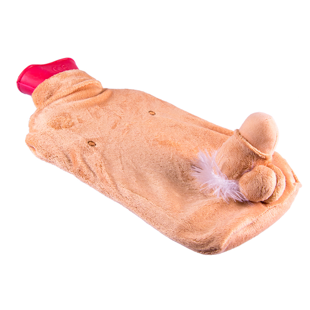Willy Hot Water Bottle In Front Of A White Background