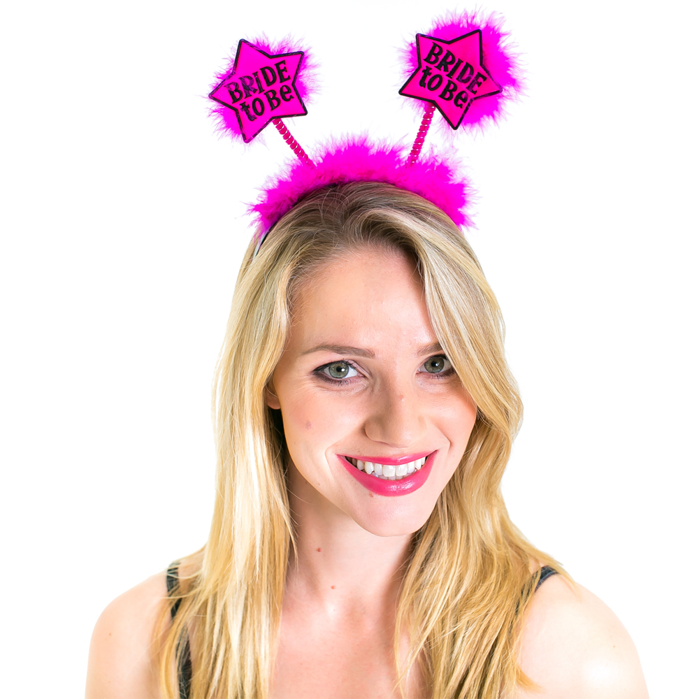 Hot Pink Bride To Be Star Boppers