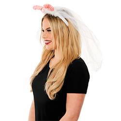Side View Of Veil With Willy Headboppers
