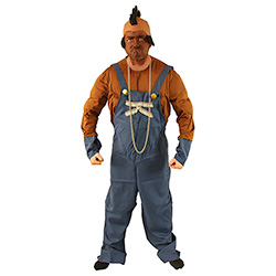 Mr T Costume With Dungarees Necklace and Wig