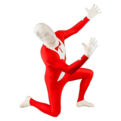Red Tuxedo Morphsuit On One Knee