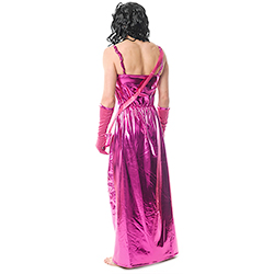 Back Facing Shiny Pink Mr Miss World Drag Costume