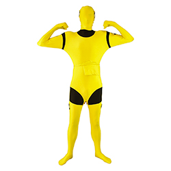 Yellow Crash Test Dummy Second Skin Suit