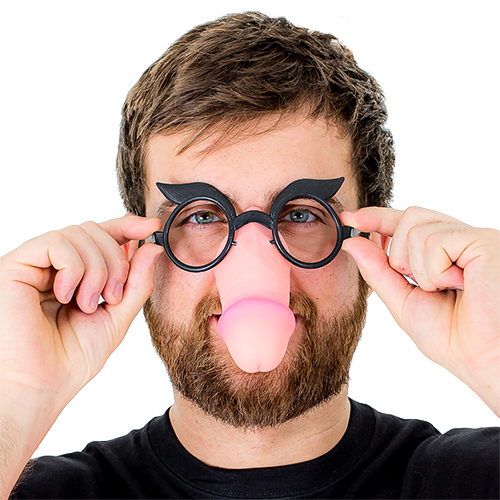Willy Glasses Attached To A Willy Nose
