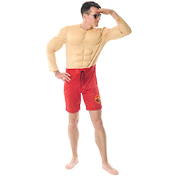 Official Baywatch Costume with red shorts