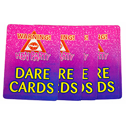 Hen Do Dare Cards On White Background