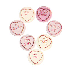 Hen Party Love Hearts On White Background