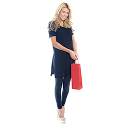 Model Holding Red Wine Bottle Bag