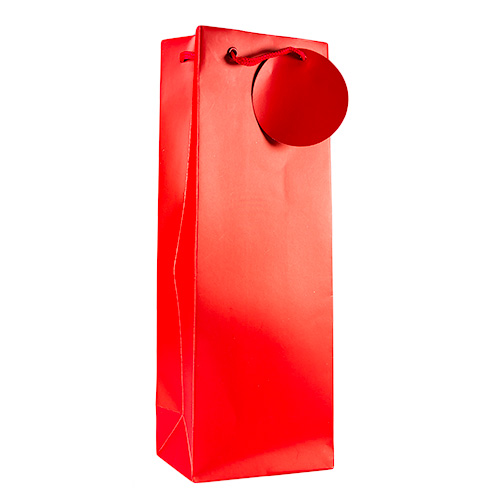 Upright Red Wine Bottle Bag