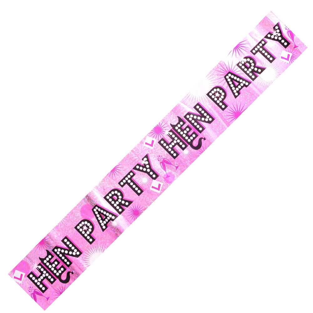 Hen Party Banner On White Background