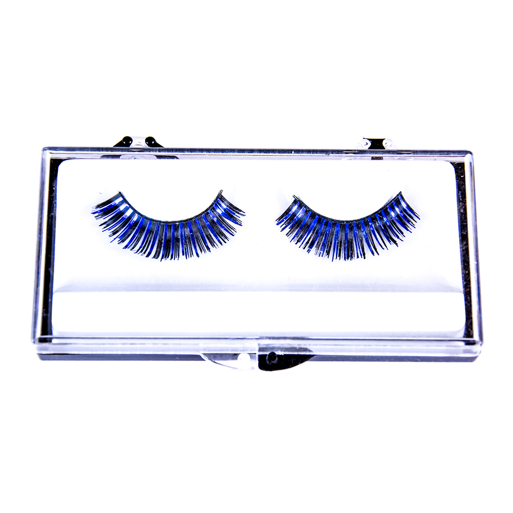 Black Eyelashes With Blue