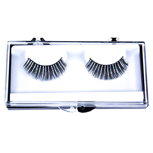 Black Fake Eyelashes With Silver