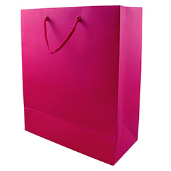 Medium Pink Gift Bag Side View