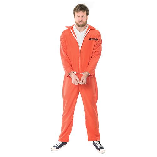 Front Facing Orange Escaped Prisoner Costume