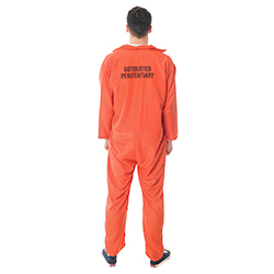 Back Facing Orange Escaped Prisoner Costume