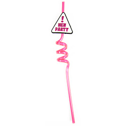 One Of The Three Hen Party Straws On White Background