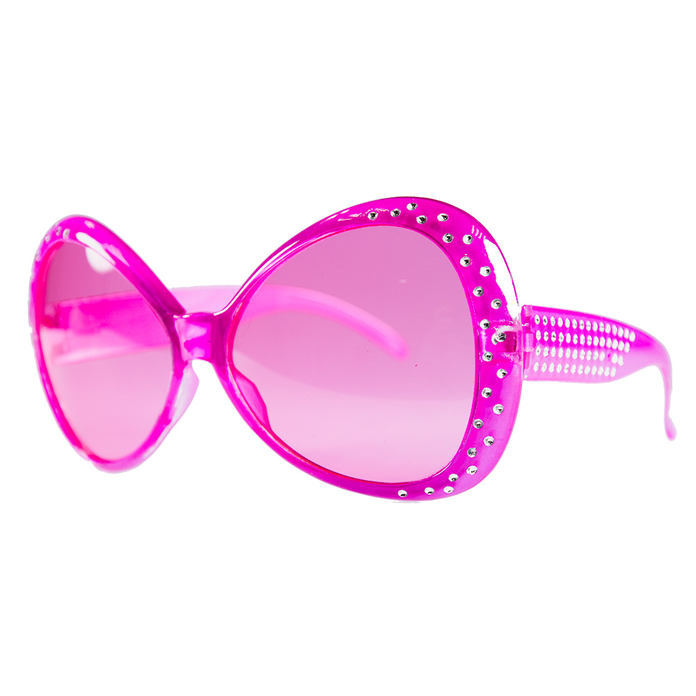 Pink Party Glasses With Diamantes Product Shot