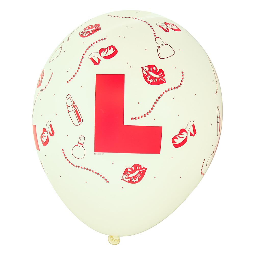 White L Plate Balloon