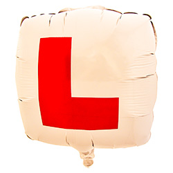 Square L Plate Balloon Blown Up