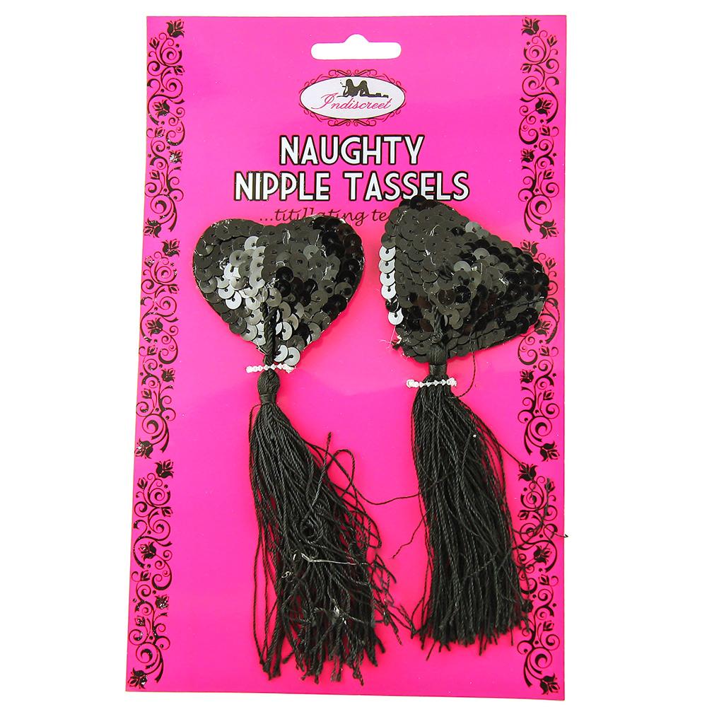 Black Sequin Nipple Tassles