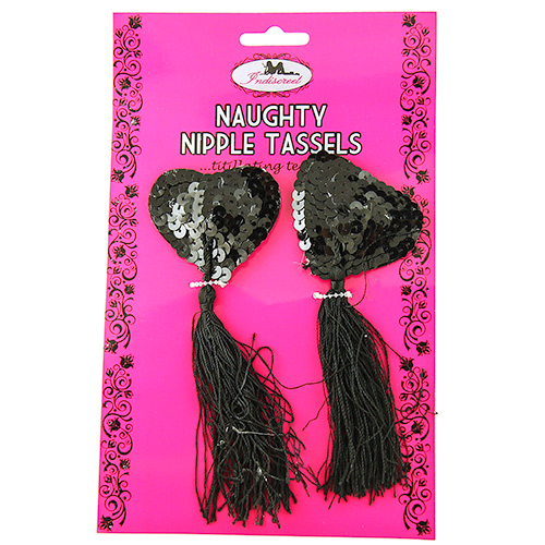 Black Sequin Nipple Tassles