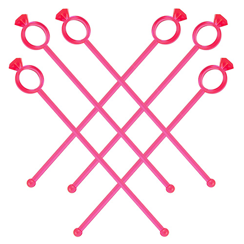 Pack Of Diamond Ring Cocktail Stirrers