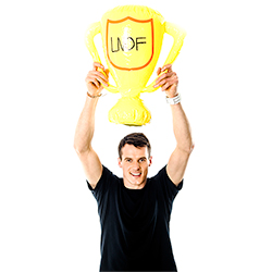 Inflatable LNOF Trophy Above Model Head