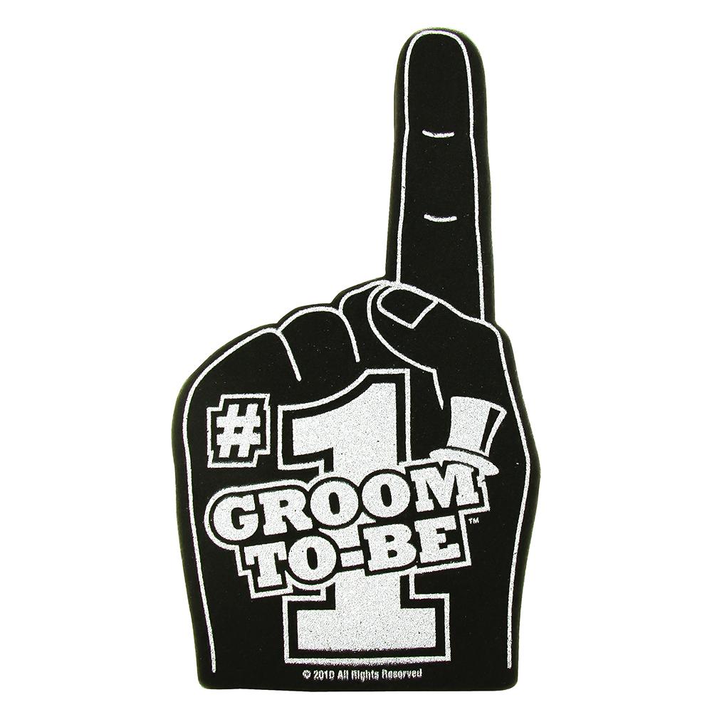 Number 1 Groom Foam Hand