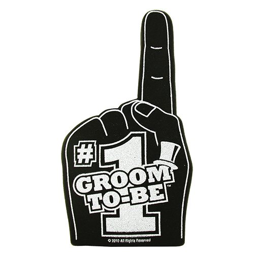 Number 1 Groom Foam Hand