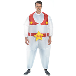 White and Red Inflatable Elvis Outfit