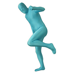 Turquoise Morphsuit Clenching Fist