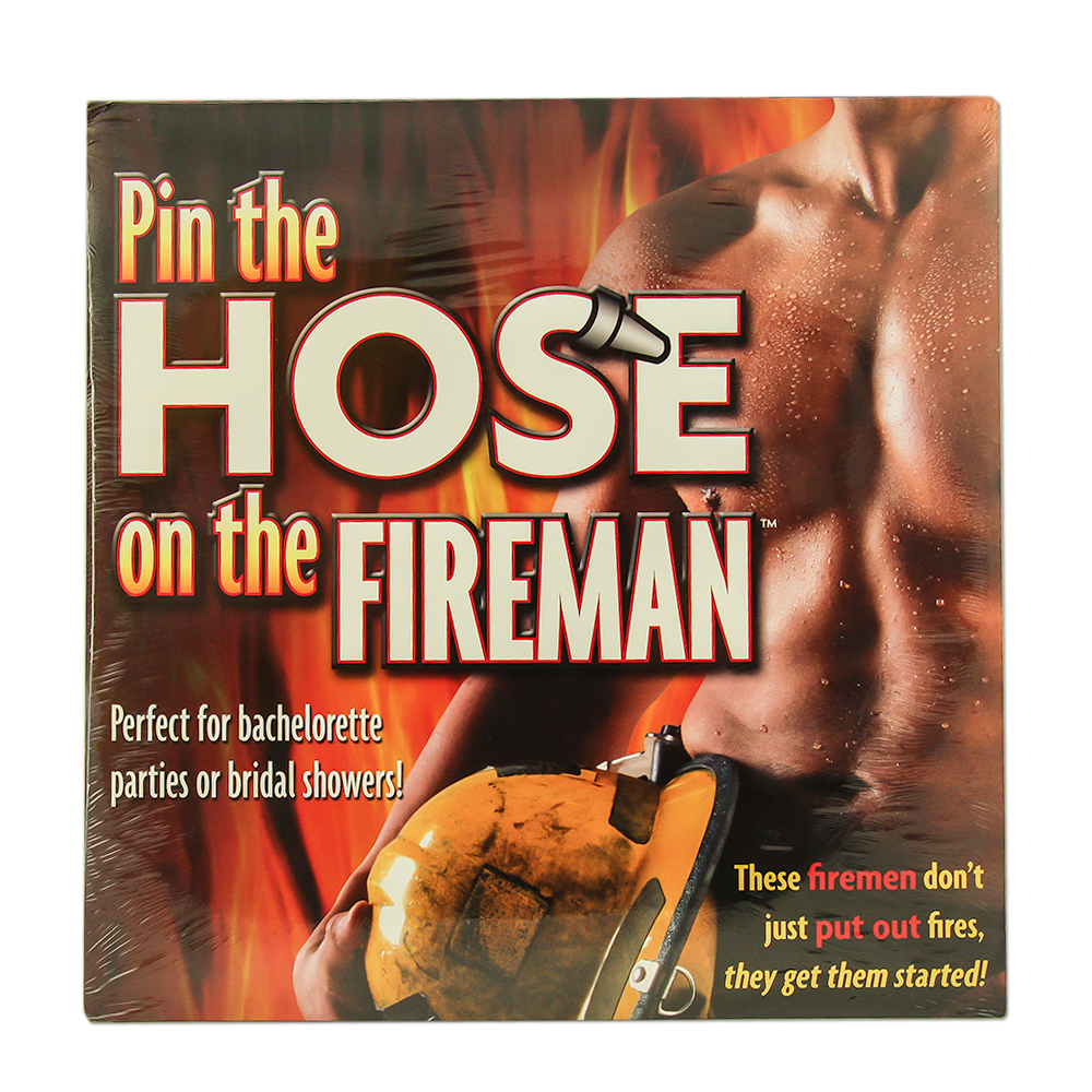 Hilarious Pin The Hose on The Fireman Game Packaging